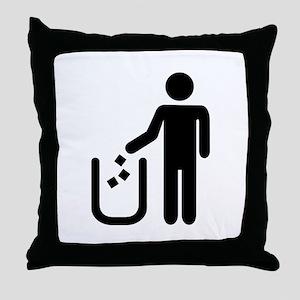Litter waste garbage Throw Pillow
