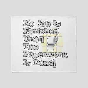 Paperwork Throw Blanket