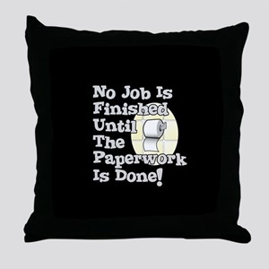 Paperwork Throw Pillow