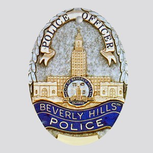 Beverly Hills Police Oval Ornament