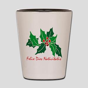 """Merry Christmas!"" (Latin) Shot Glass"