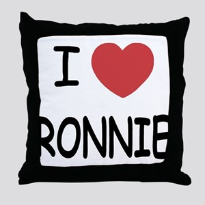I heart RONNIE Throw Pillow
