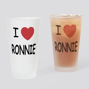 I heart RONNIE Drinking Glass