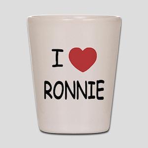 I heart RONNIE Shot Glass