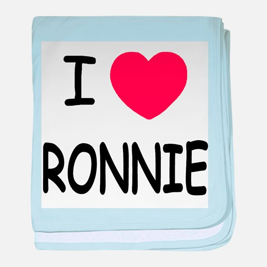 I heart RONNIE baby blanket