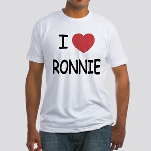 I heart RONNIE Fitted T-Shirt