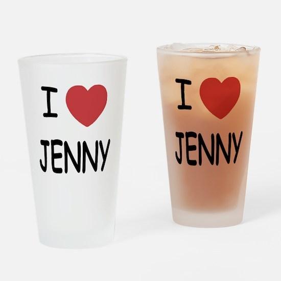 I heart JENNY Drinking Glass