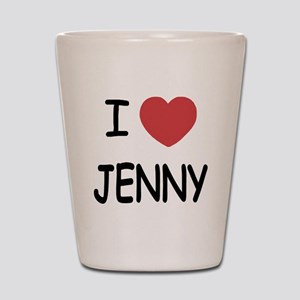 I heart JENNY Shot Glass