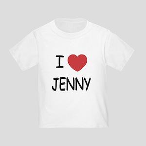 I heart JENNY Toddler T-Shirt