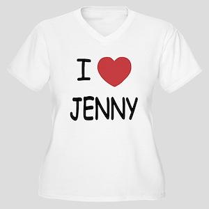 I heart JENNY Women's Plus Size V-Neck T-Shirt