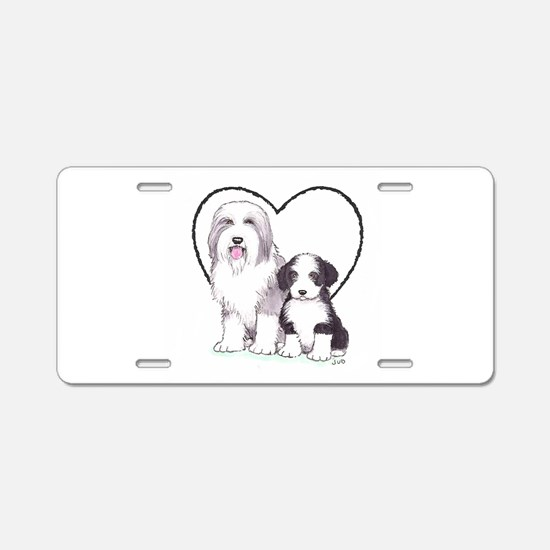 Bearded Collies Aluminum License Plate