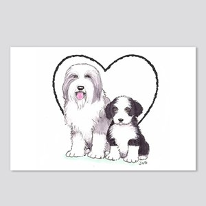 Bearded Collies Postcards (Package of 8)