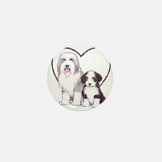 Bearded Collies Mini Button