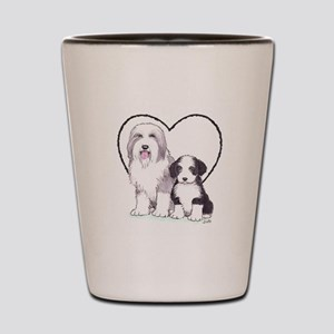Bearded Collies Shot Glass