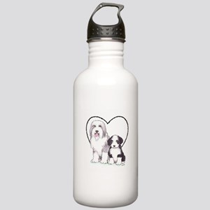Bearded Collies Stainless Water Bottle 1.0L