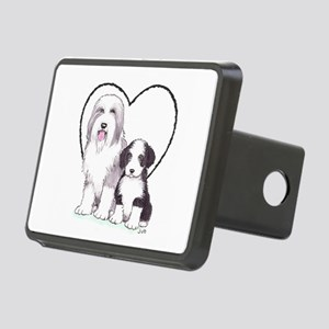Bearded Collies Rectangular Hitch Cover