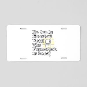 Paperwork Aluminum License Plate