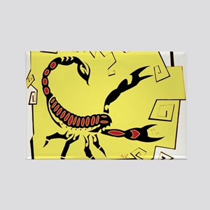 Scorpio Tribal Tattoo Rectangle Magnet