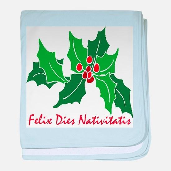 """""""Merry Christmas!"""" (Latin) baby blanket"""