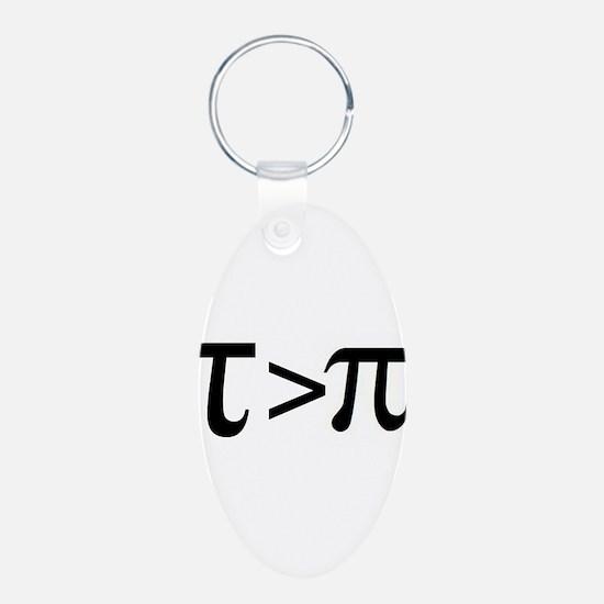 Tau Greater than Pi Keychains
