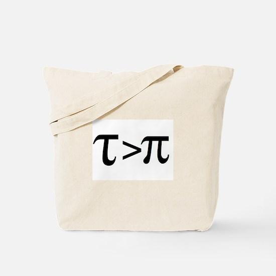 Tau Greater than Pi Tote Bag