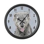 Irish Wolfhound Large Wall Clock