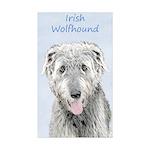 Irish Wolfhound Sticker (Rectangle 10 pk)