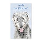 Irish Wolfhound Sticker (Rectangle 50 pk)