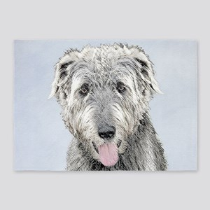 Irish Wolfhound 5'x7'Area Rug