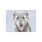 Irish Wolfhound 5'x7'Area Rug