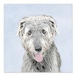 Irish Wolfhound Square Car Magnet 3
