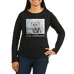 Irish Wolfhound Women's Long Sleeve Dark T-Shirt