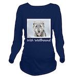 Irish Wolfhound Long Sleeve Maternity T-Shirt