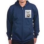 Irish Wolfhound Zip Hoodie (dark)