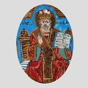 Saint Nicholas Of Myra Ornament (oval)
