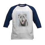 Irish Wolfhound Kids Baseball Tee