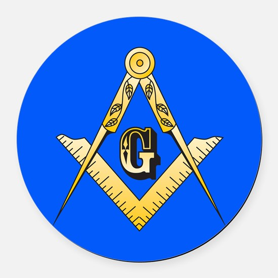 Masonic Round Car Magnet
