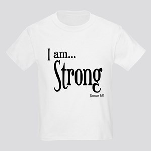I am Strong Romans 8:37 Kids Light T-Shirt