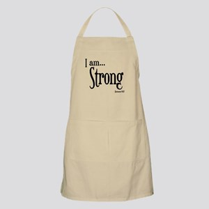 I am Strong Romans 8:37 Apron