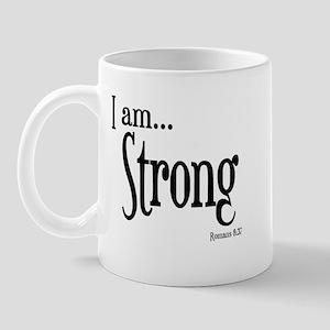 I am Strong Romans 8:37 Mug