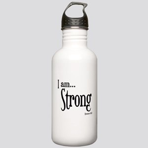 I am Strong Romans 8:37 Stainless Water Bottle 1.0