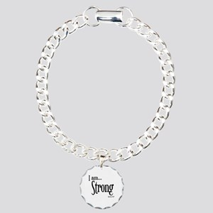 I am Strong Romans 8:37 Charm Bracelet, One Charm