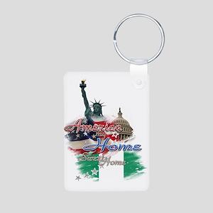USA - Naija: Aluminum Photo Keychain