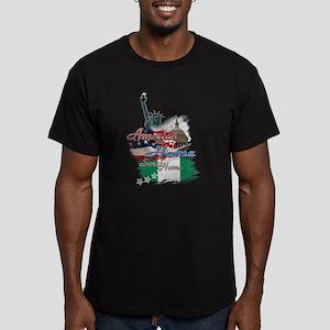 USA - Naija: Men's Fitted T-Shirt (dark)
