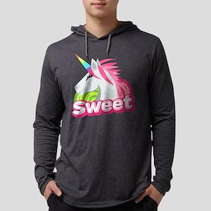 Emoji Unicorn Sweet Mens Hooded Shirt