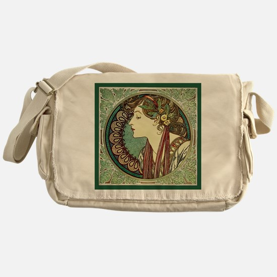 Alphonse Mucha Laurel Messenger Bag