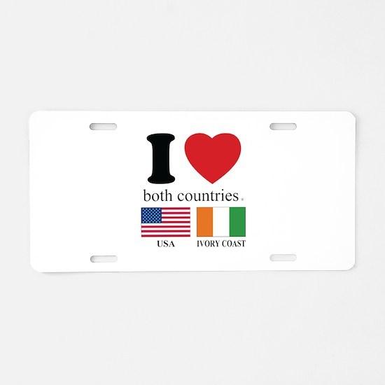 USA-IVORY COAST Aluminum License Plate