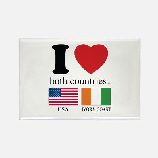 USA-IVORY COAST Rectangle Magnet