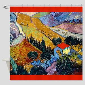 Van Gogh Ploughman Shower Curtain