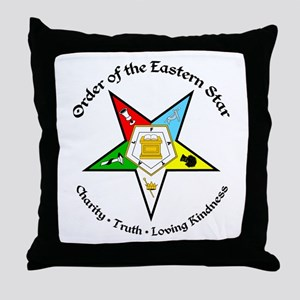 Eastern Star Throw Pillow
